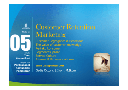 Customer Retention Marketing