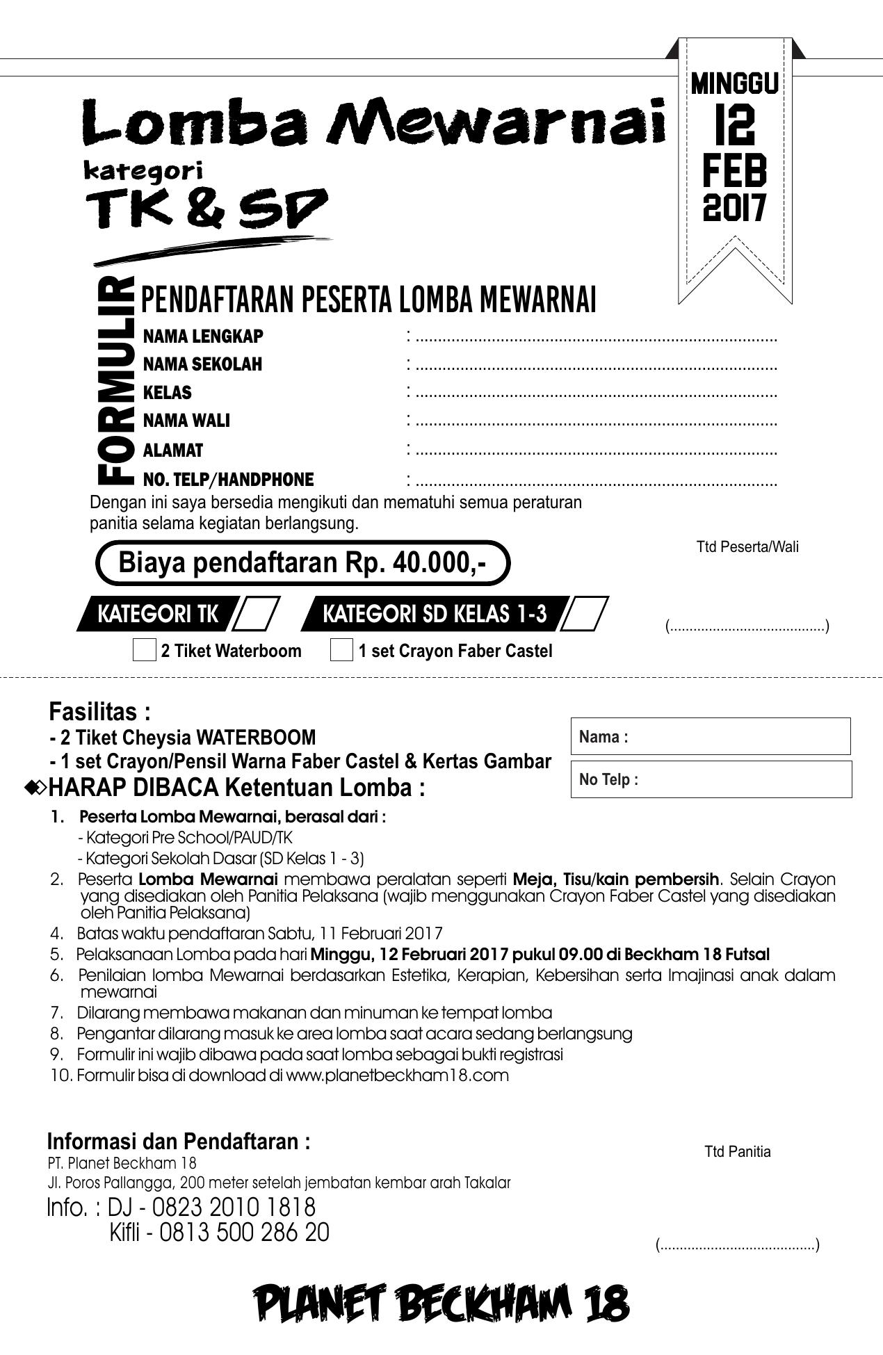 Form Mewarnai 7r