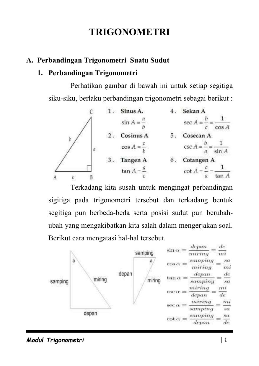 Contoh Soal Perbandingan Trigonometri Di Berbagai Kuadran Contoh Soal Terbaru