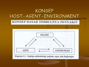 konsep host-agent-environment