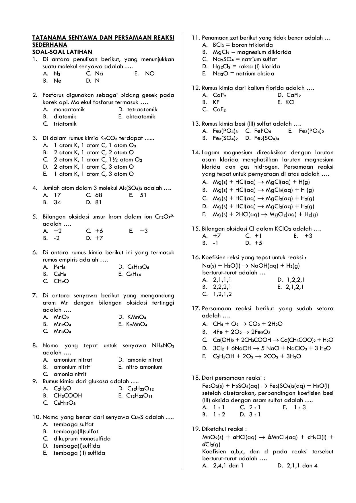 Kimia 1