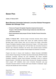 Press release - Merck Indonesia
