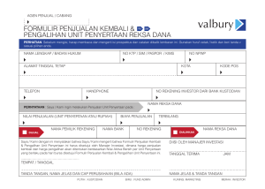 Form Penjualan - Valbury Capital Management