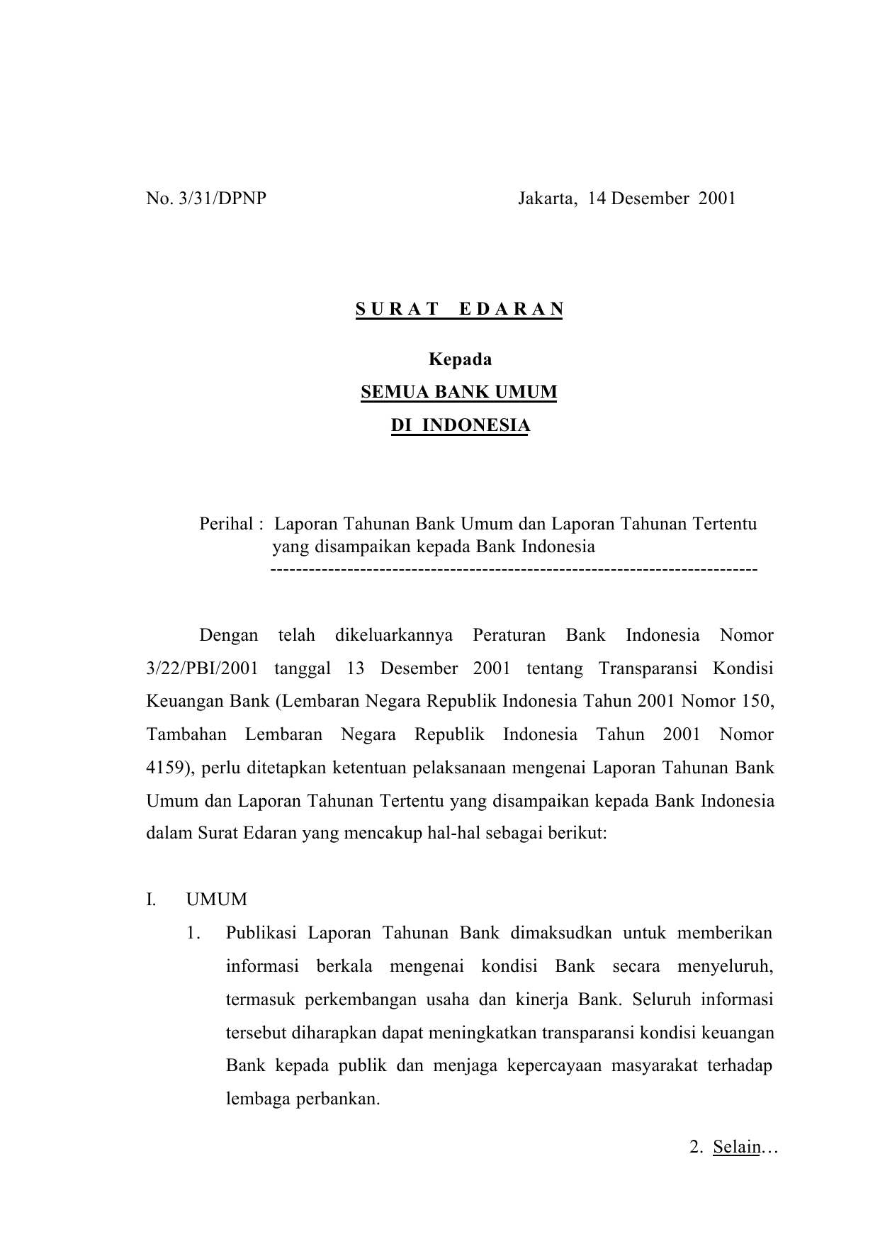 Laporan Tahun Bank Indonesia