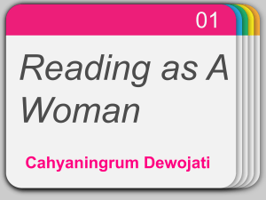 Reading as A Woman