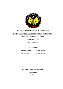 PROPOSAL PROGRAM KREATIVITAS MAHASISWA