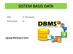 sistem basis data - Universitas Dian Nuswantoro