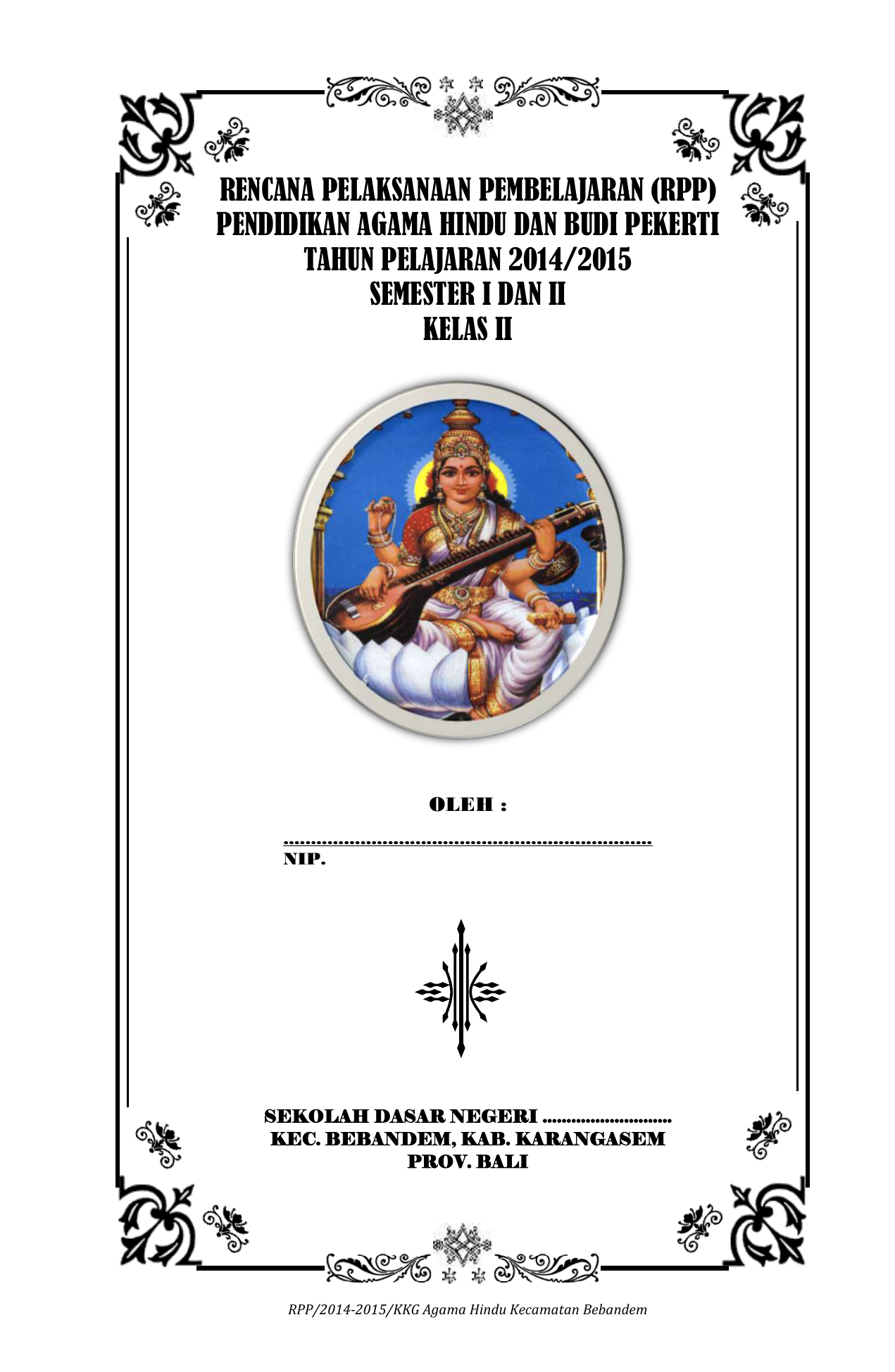 Contoh Rpp Agama Hindu Kls Ii