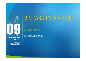 bahasa indonesia - Universitas Mercu Buana