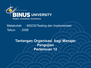 M0232 Testing dan Implementasi