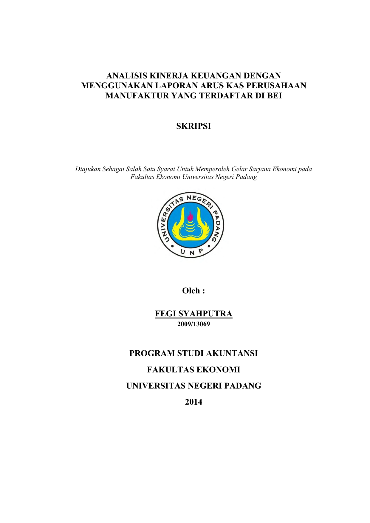 Skripsi Analisis Kinerja Keuangan Perusahaan Manufaktur Kumpulan Berbagai Skripsi