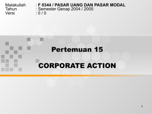 jenis-jenis instrumen dari Corporate Action