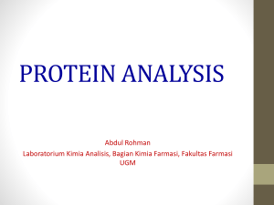 protein analysis - Farmasi Carbon 2012