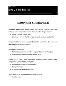 kompresi audio/video - Lecturer - Universitas Kristen Duta Wacana