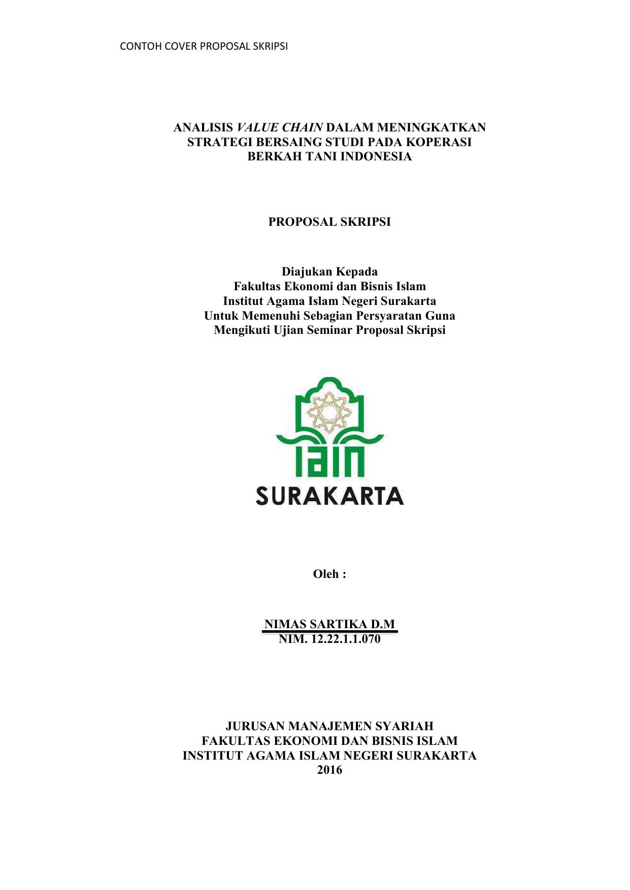 3 Cover Dan Lembar Pengesahan Proposal Skripsi