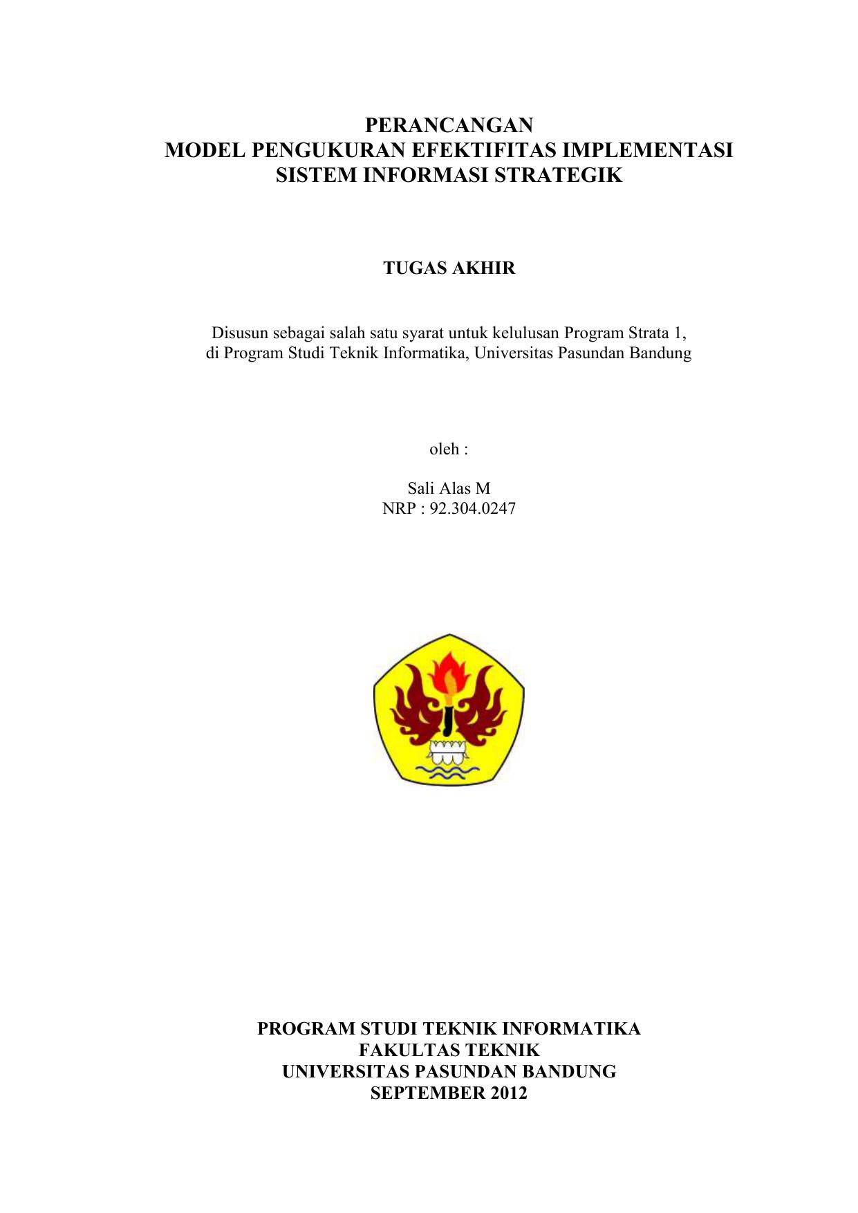 Proposal Laporan Tugas Akhir 1