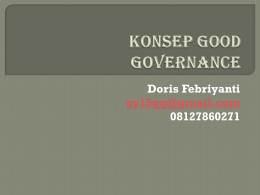Konsep Good Governance