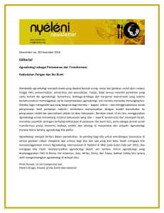 Editorial - Nyeleni newsletter