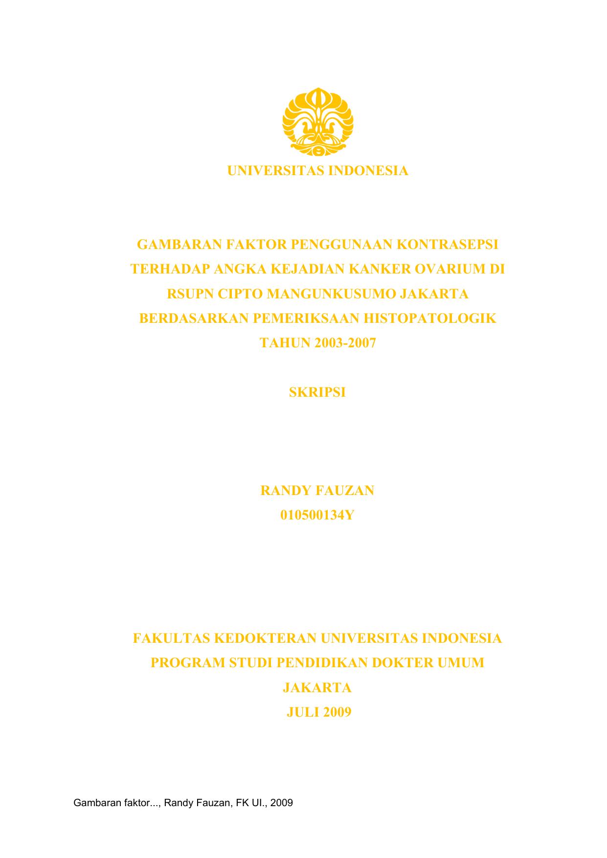 Pdf Skripsi Cinthya Yuanita 0806323845 Fakultas Kedokteran Program Studi Kedokteran Umum Jakarta Mei 2011 Dede Andrean Academia Edu