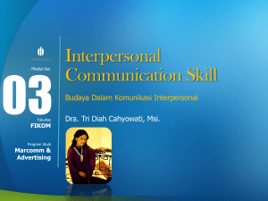 Interpersonal Communication Skill