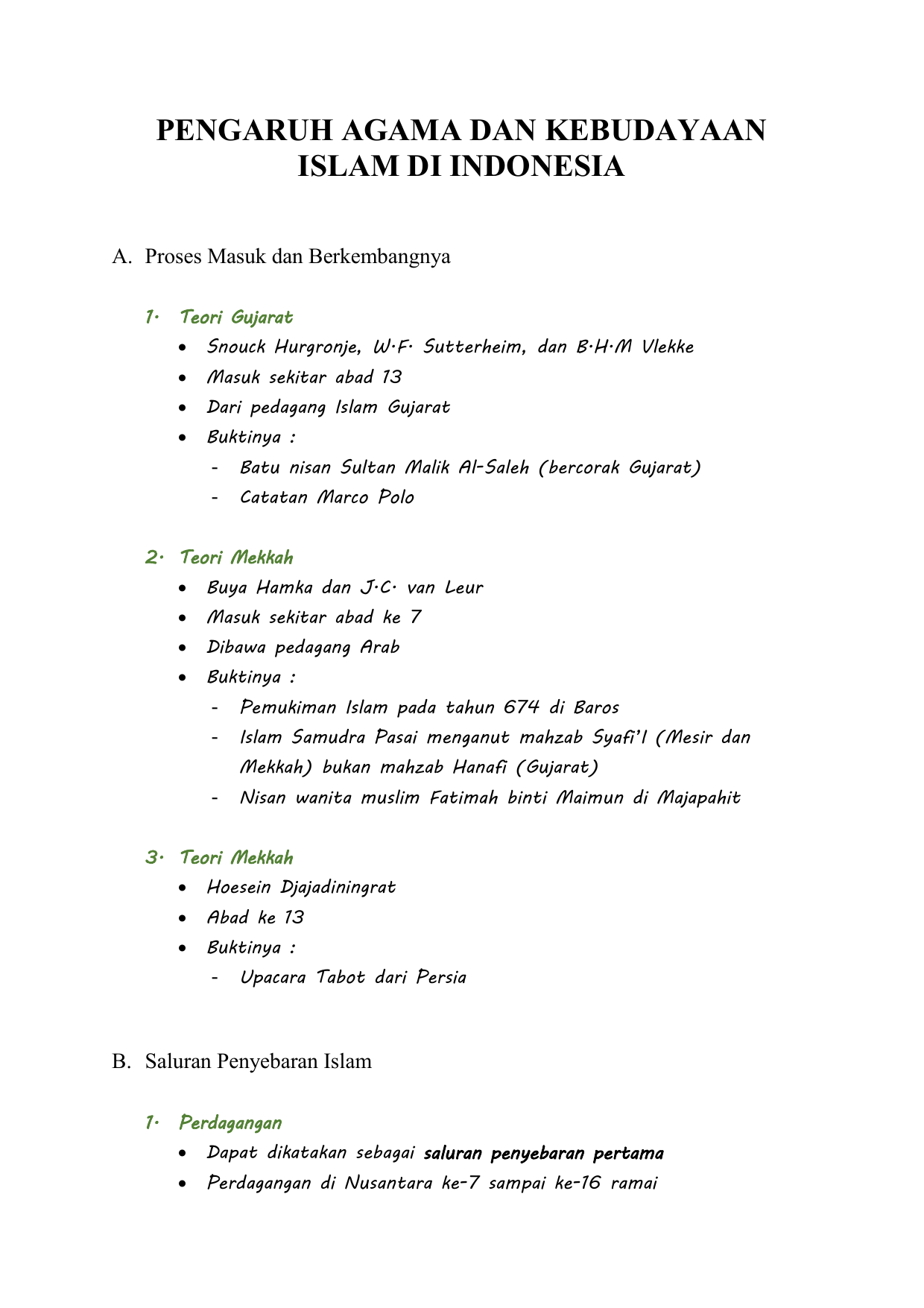 Pengaruh Agama Dan Kebudayaan Islam Di Indonesia