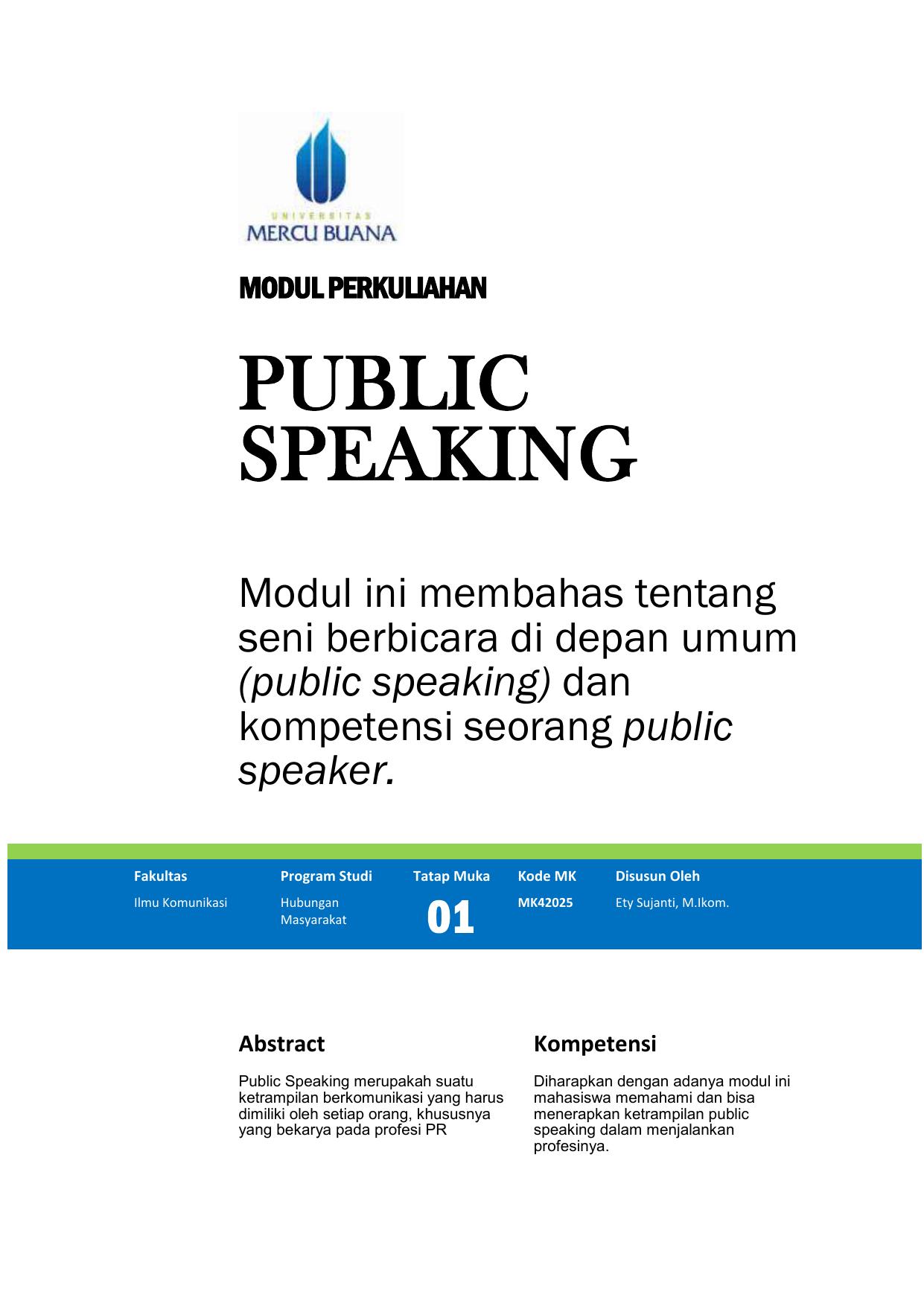 Modul Public Speaking Tm1