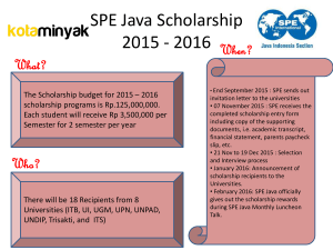SPE Java Scholarship 2011