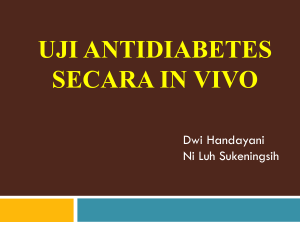 Uji antidiabetes secara in vivo