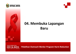 Pelatihan Outreach Worker Program Harm Reduction 04. Membuka