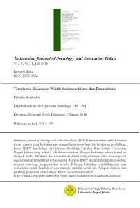 Indonesian Journal of Sociology and Education Policy