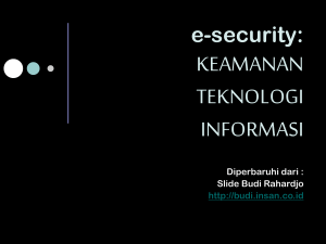 e-security - E-learning UPN JATIM