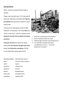 Gempa bumi - Resourceful Indonesian