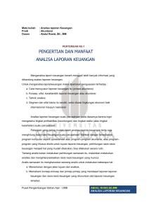 PERTEMUAN KE-5 Analisa Cross Section