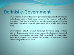 Definisi e-Government - Bina Darma e