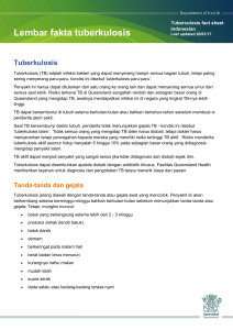 Tuberculosis fact sheet Indonesian