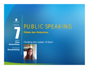 public speaking - Universitas Mercu Buana