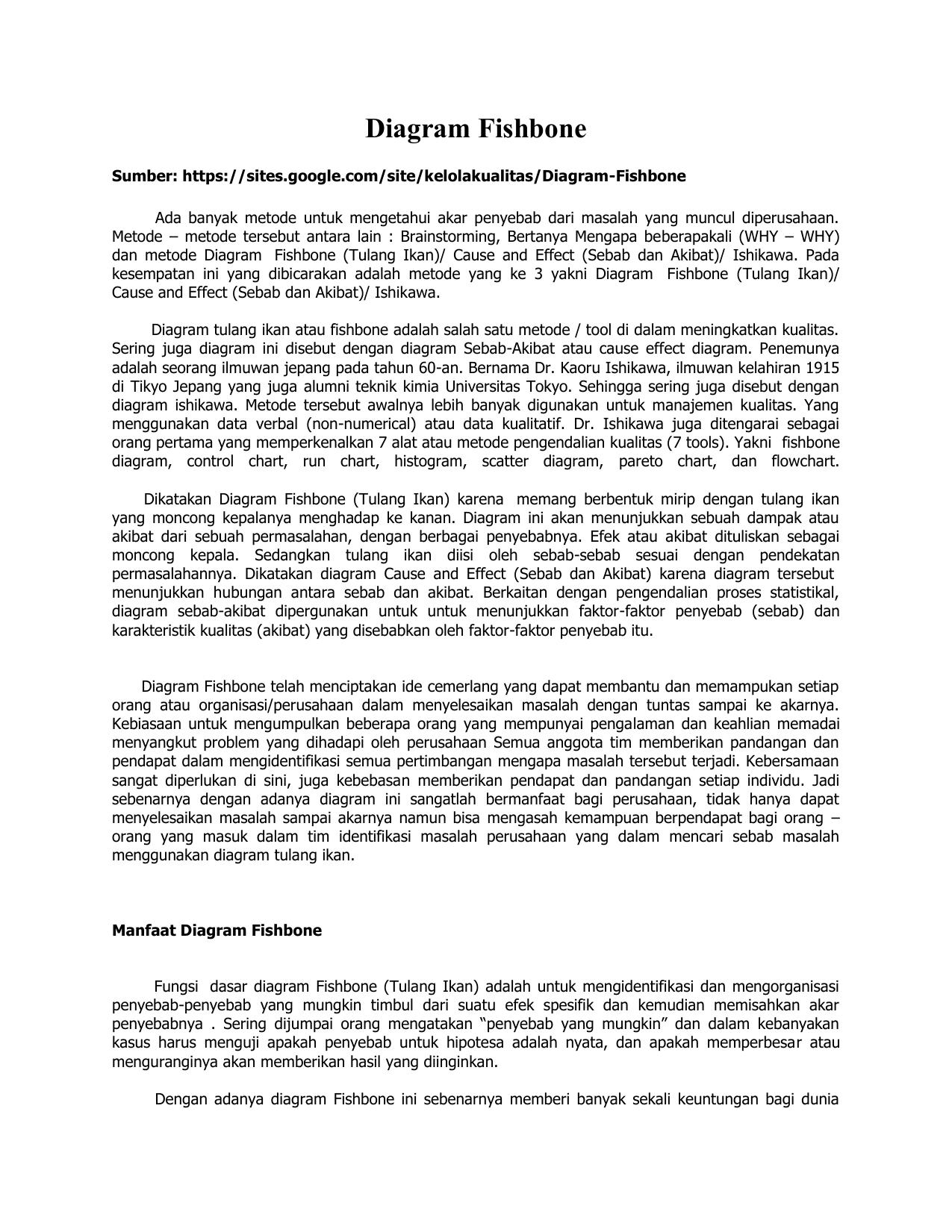 Diagram fishbone situs blog staff pengajar universitas budi luhur ccuart Choice Image