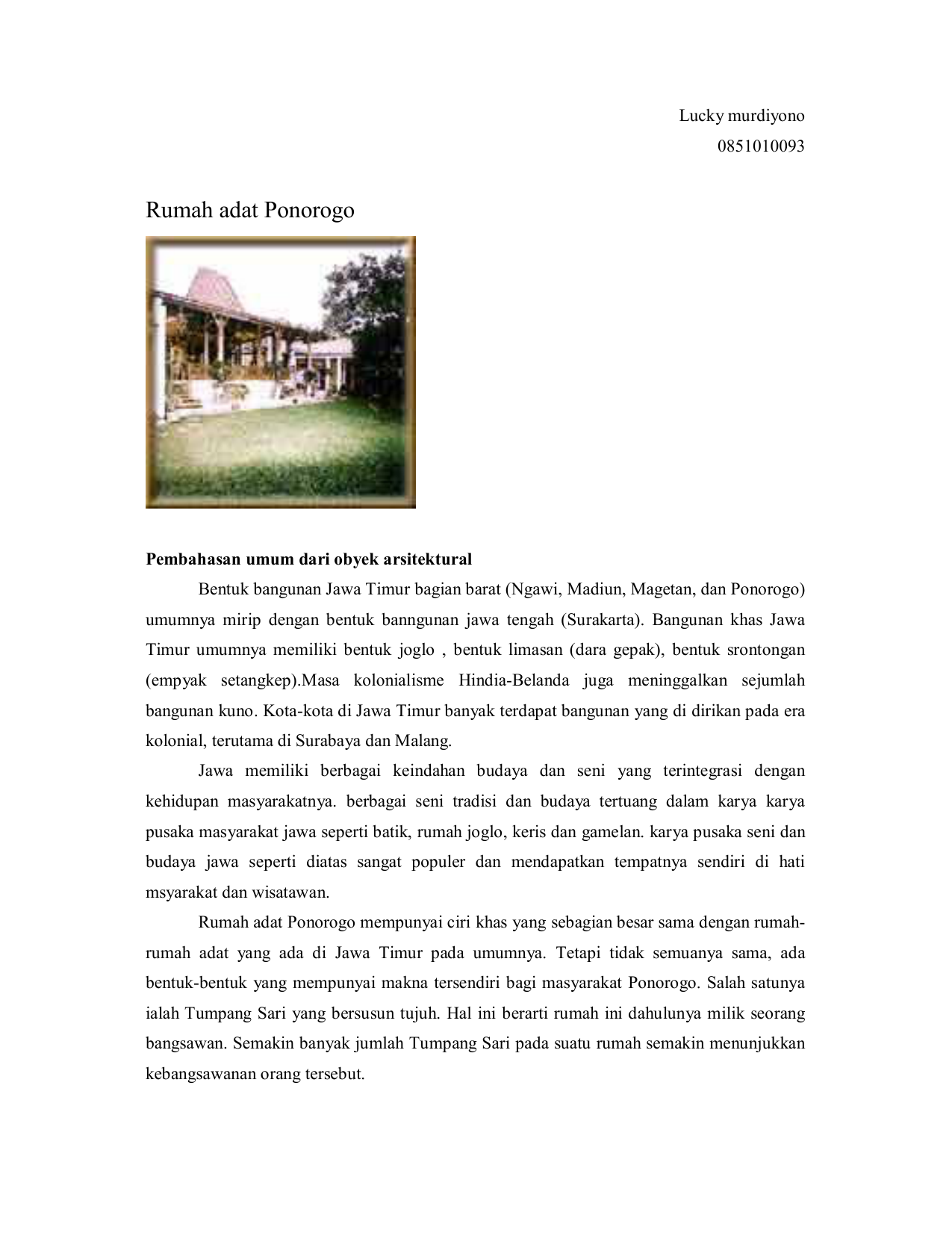 830 Koleksi Gambar Rumah Adat Jawa Tengah Dan Jawa Timur HD