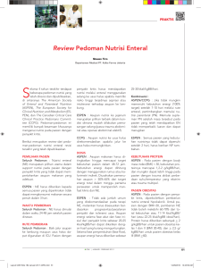 Review Pedoman Nutrisi Enteral