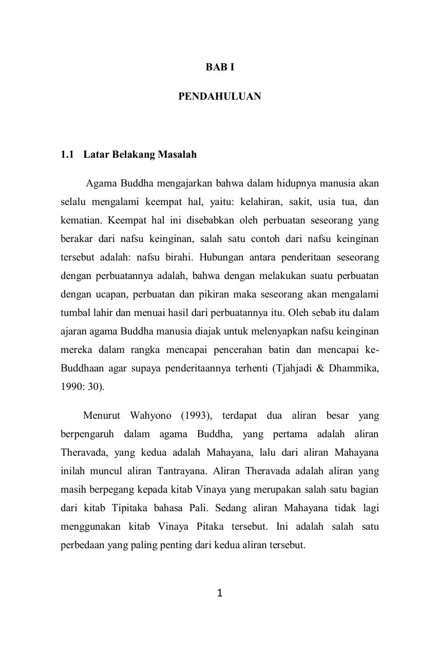 Bab I Pendahuluan 1 1 Latar Belakang Masalah Agama Buddha