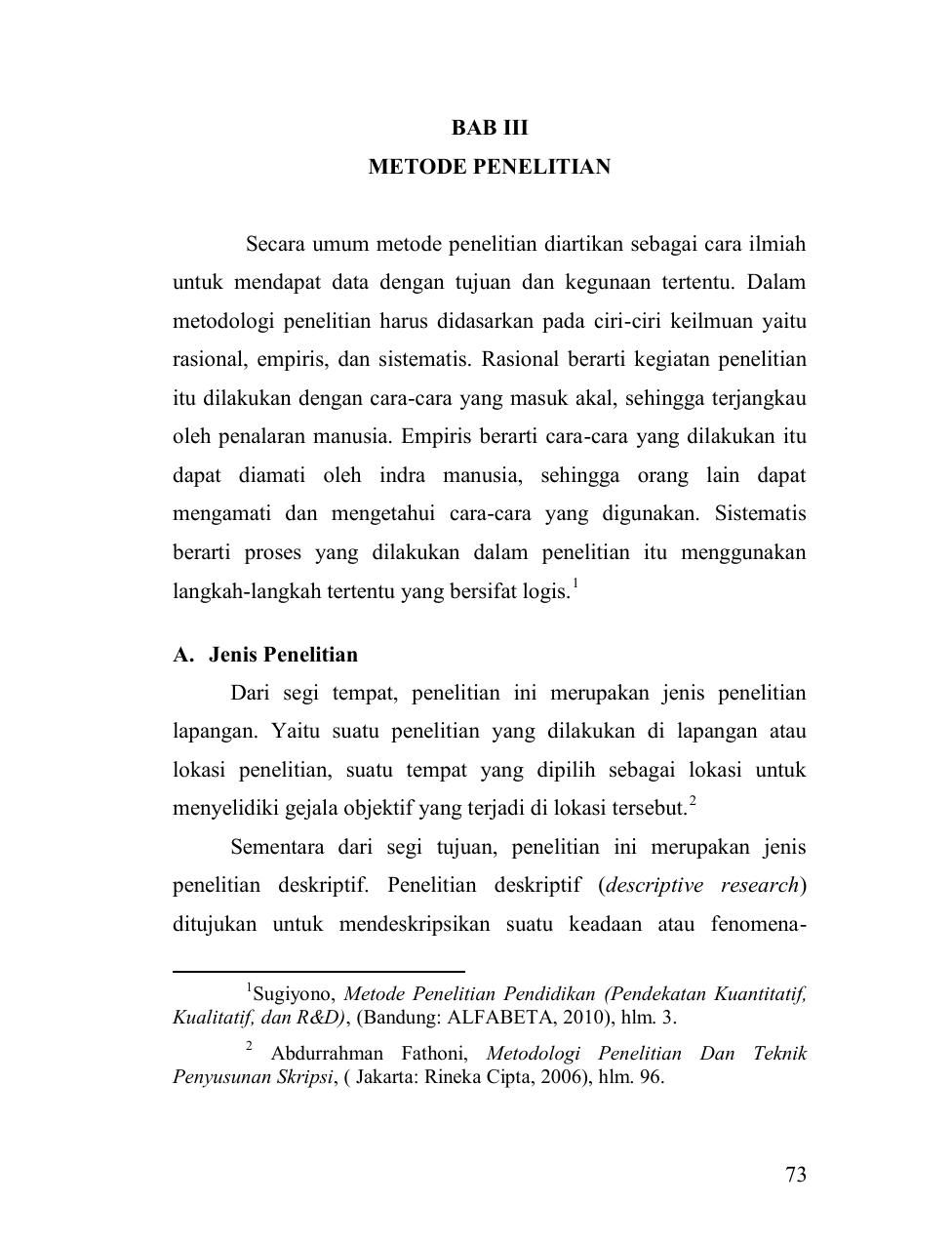73 Bab Iii Metode Penelitian Secara Umum Metode Penelitian