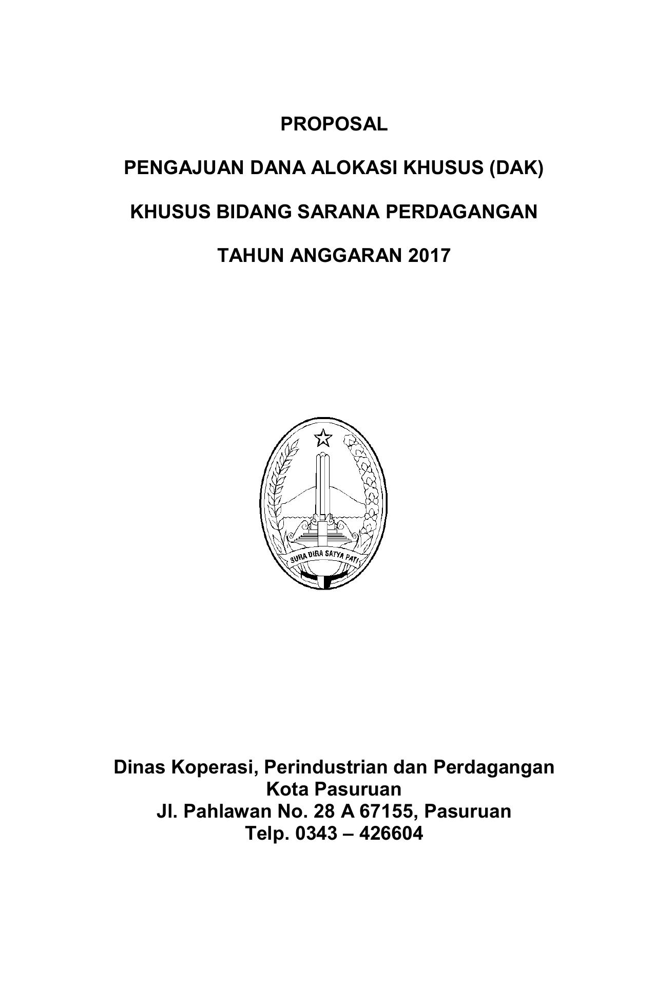 proposal perdagangan orang