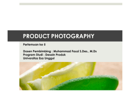 product photography - Universitas Esa Unggul
