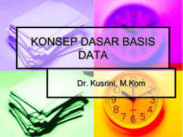 konsep dasar basis data - E