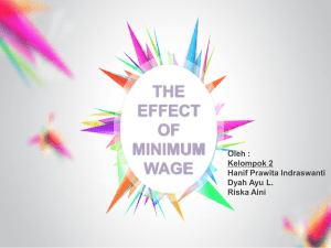 the effect of minimum wage