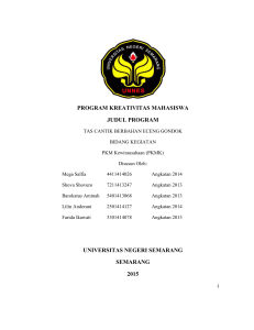 program kreativitas mahasiswa judul program