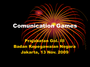 Comunication Games