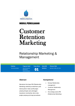 Modul Customer Retention Marketing