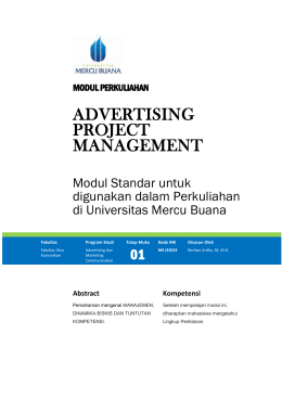Modul Advertising Project Management