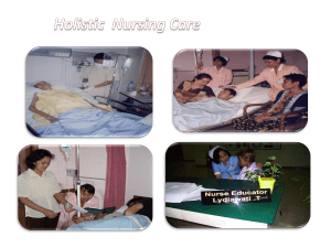 9. Holistic Nursing Care